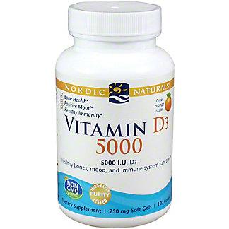 Nordic Naturals Vitamin D3 5000 Iu, 120 ct