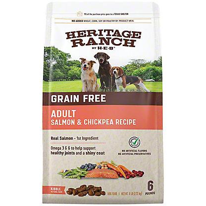 H-E-B Heritage Ranch Grain Free Salmon & Chickpea Recipe Dry Dog Food, 6 lb