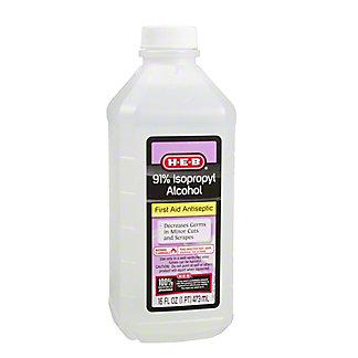 H-E-B 91% Isopropyl Alcohol,16.00 oz