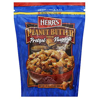 Herrs Peanut Butter Filled Pretzels,24 OZ