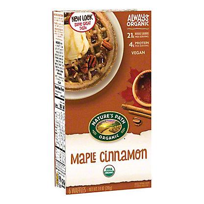 Natures Path Organic Organic Maple Cinnamon Waffles with Oat Bran, 6.00 ea