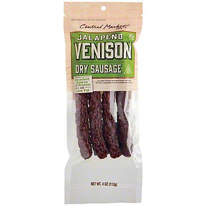 Central Market Central Market Jalapeno Venison, Semi-Dry Sausage,4.00 ea