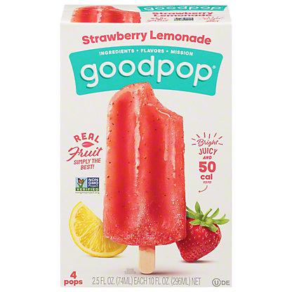 GoodPop Strawberry Lemonade Pops,4 CT