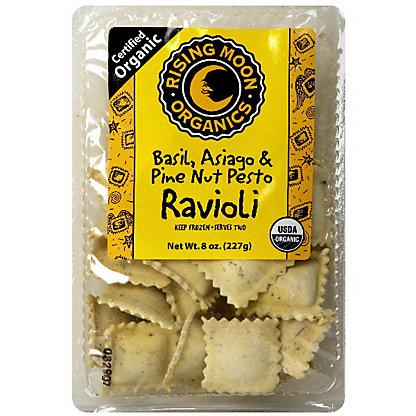 Rising Moon Organics Basil Asiago Pine Nut Pesto Ravioli, 8 oz