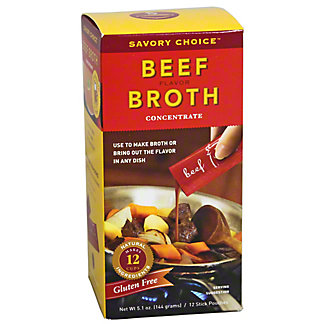 Savory Choice Beef Broth Concentrate,12.00 ea