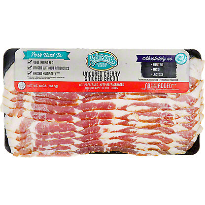 Pedersons Cherry Wood Smoked Bacon,10 OZ