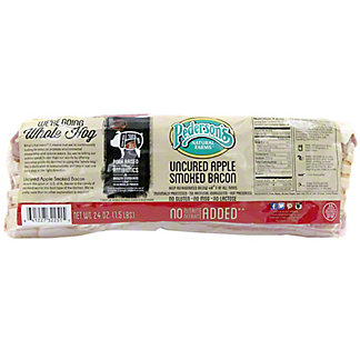 Pedersons Uncured Apple Smoked Bacon,24 OZ