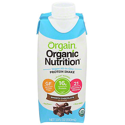 Orgain Vegan Nutritional Shake Chocolate,11 OZ