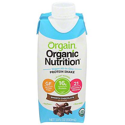Orgain Vegan Nutritional Shake Chocolate,11 OZ