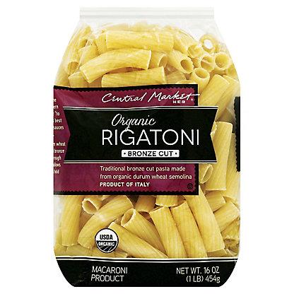 Central Market Organic Rigatoni Bronze Cut,16 OZ