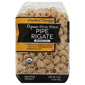 Central Market Organic Whole Wheat Pipe Rigate Bronze Cut Pasta, 16 oz