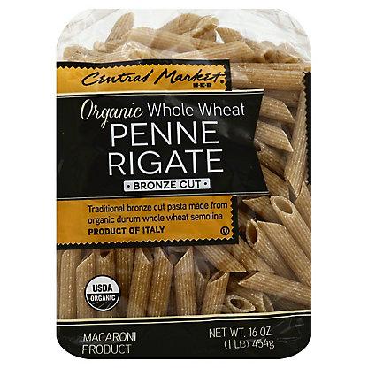 Central Market Organic Whole Wheat Penne Rigate Bronze Cut Pasta,16 OZ