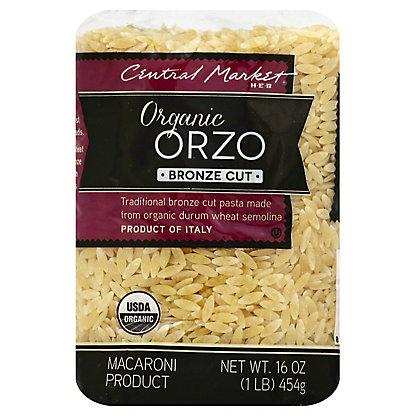 Central Market Organic Orzo Bronze Cut Pasta,16 OZ