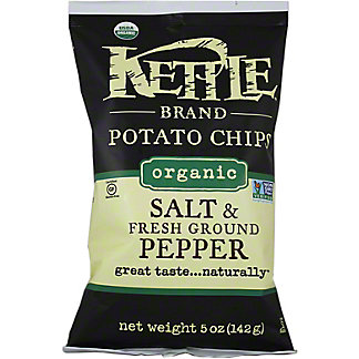 Kettle Kettle Salt & Pepper Potato Chips,5.00 oz