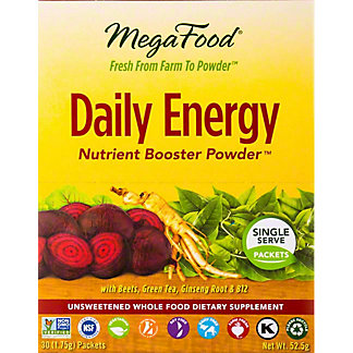 Megafood Daily Energy Nutrient Booster Powder Packets   , 30 ct