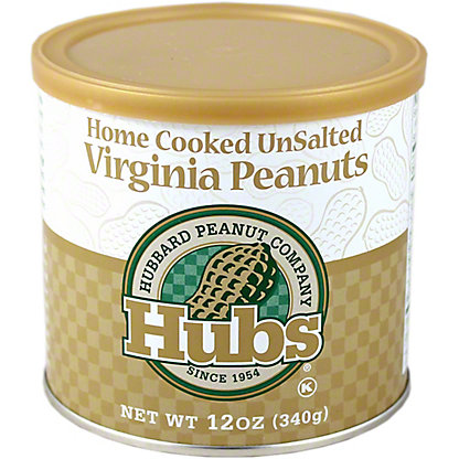 Hubs Unsalted Virginia Peanuts,12.00 oz