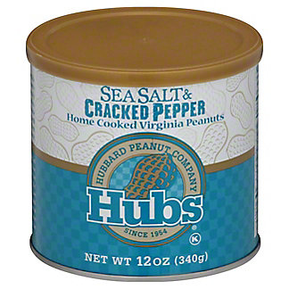 HUBS Sea Salt & Pepper Peanuts,12 OZ