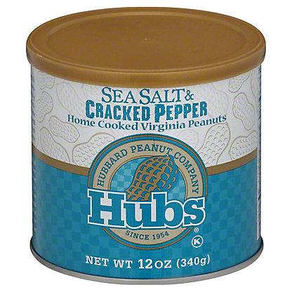 HUBS Sea Salt & Pepper Peanuts,12 OZ
