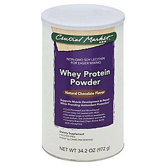 Central Market Whey Protein Powder, Natural Chocolate Flavor, 34.7 oz