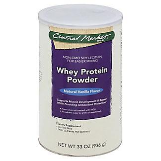 Central Market Whey Protein Powder, Natural Vanilla Flavor, 33 oz