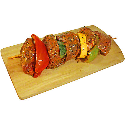 Fresh Apple Cider Bacon Marinated Beef Sirloin Kabob, lb