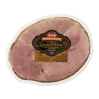 H-E-B Hickory Smoked Bone-In Ham Steak