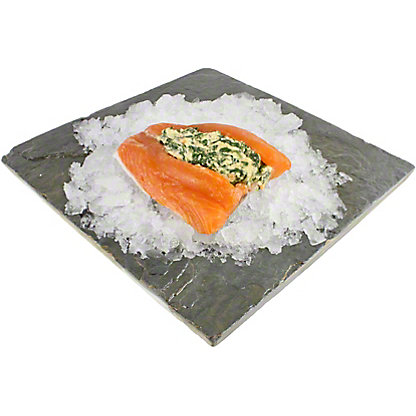 Central Market Stuffed Salmon Rockefeller,LB