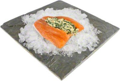 Central Market Stuffed Salmon Rockefeller LB