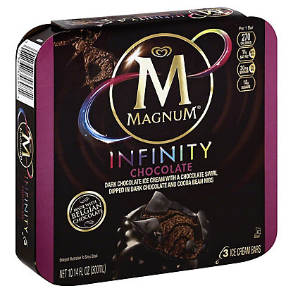 Magnum Chocolate Infinity Ice Cream Bar, 3 ct