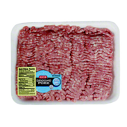 H-E-B 80% Lean Ground Pork - Value Pack,sold by the pound