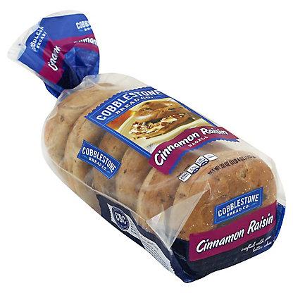 Cobblestone Bread Co. Cinnamon Raisin Bagels,20 OZ