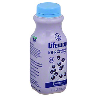Lifeway Lowfat Blueberry Kefir Cultured Milk Smoothie,8OZ