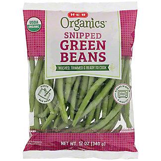 H-E-B Organics Snipped Green Beans, 12 oz