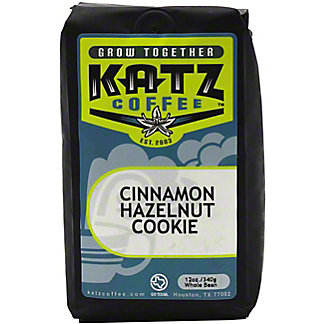 Katz Cinnamon Hazelnut Cookie Whole Bean Coffee, 12 oz