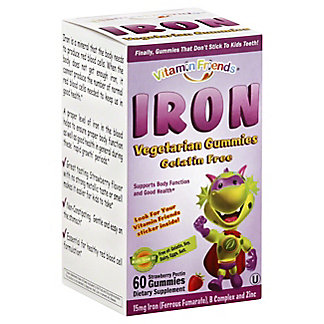 Vitamin Friends Iron Bear Gummies, 60 ct
