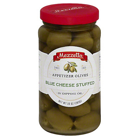 Mezzetta Appetizer Olives Blue Cheese Stuffed, 10 OZ