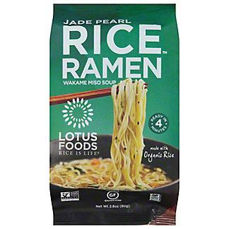 Lotus Foods Jade Pearl Rice Ramen With Miso Soup, 2.8 oz
