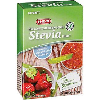 H-E-B Stevia Extract, 80 ea