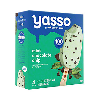 Yasso Frozen Greek Yogurt Bars, Mint Chocolate Chip,4 ct