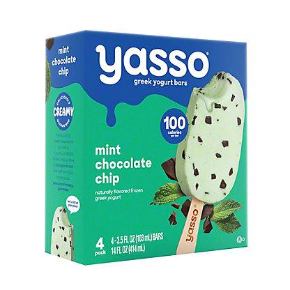 Yasso Frozen Greek Yogurt Bars, Mint Chocolate Chip,4 ct