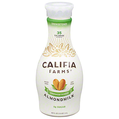 Califia Farms Unsweetened Pure Almond Milk, 48 oz