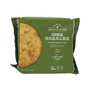 Ines Rosales Rosemary & Thyme Savory Olive Oil Tortas, 6.3 oz