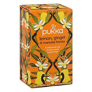 Pukka Lemon Ginger and Manuka Honey Herbal Tea, 20 ct