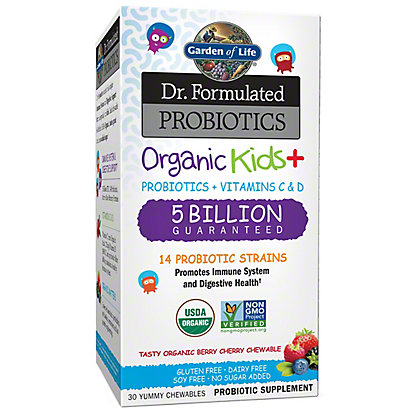 Garden of Life Dr. Formulated Probiotics Organic Kids Chews, 30 ct