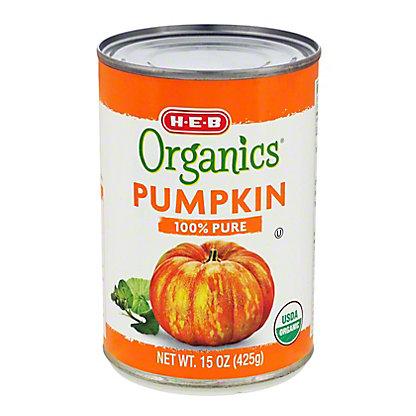 H-E-B Organics Solid Pack Pumpkin, 15 oz