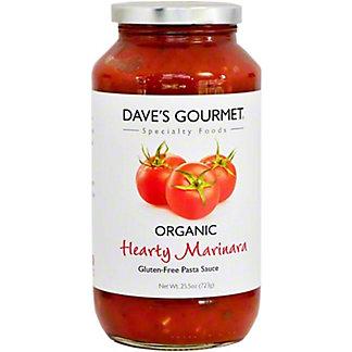 Dave's Gourmet Organic Hearty Marinara Pasta Sauce,25.50 oz