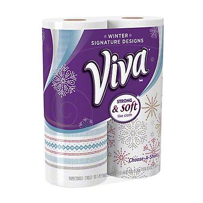 Viva Signature Designs Choose-a-Size Paper Towels, 2 ct