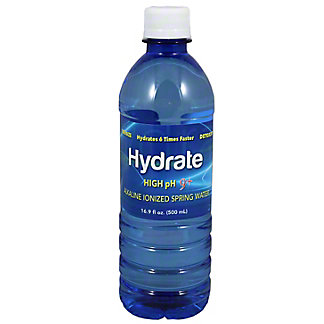 Hydrate Alkaline Water High PH 9+ 16.9 Oz,16.90 oz