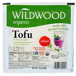 WILDWOOD Sprouted Water Packed Silken Tofu,14OZ