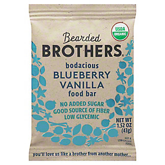 Bearded Brothers Energy Bar, Bodacious Blueberry Vanilla,2 OZ